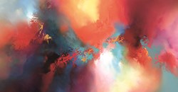 Conjuring Heavens  by Simon Kenny - Glazed Box Canvas sized 54x28 inches. Available from Whitewall Galleries